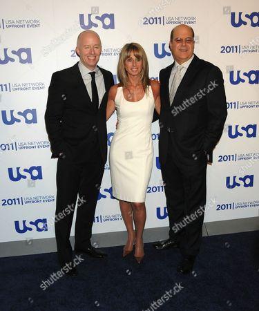 Chris McCumber, Bonnie Hammer and Jeff Wachtel