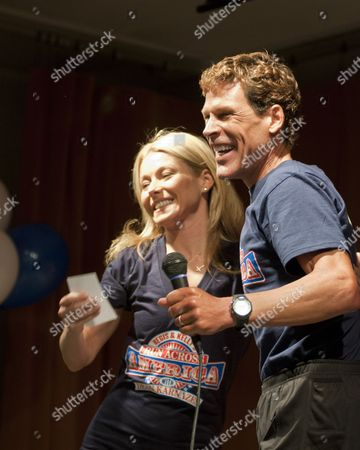 """Kelly Ripa is joined by Dean Karnazes, a runner whose """"Run Across America with Dean Karnazes"""" promotes daily exercise for children."""