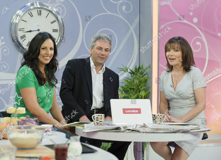 Stock Photo of Guest, Paul Morley and Presenter Lorraine Kelly