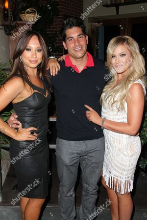 Stock Image of Cheryl Burke, Michael Catherwood and Lacey Schwimmer