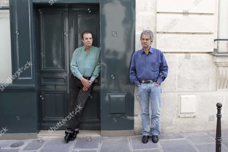 Stock Photo of Francois-Marie Banier and Jean-Marc Roberts