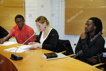 Stock Photo of Donewell and Dominic Yobe in the Oulu district court with interpreter