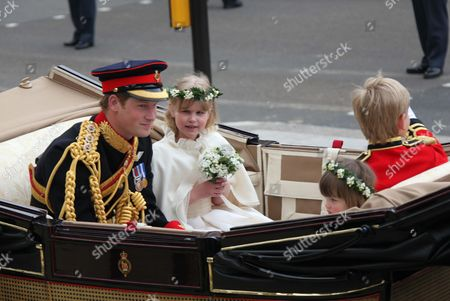Prince Harry, Lady Louise Windsor, Eliza Lopes and Tom Pettifer