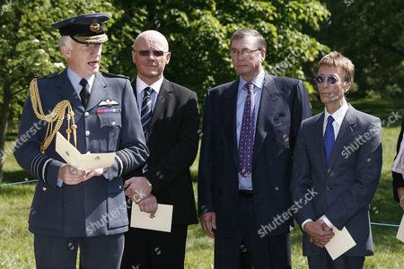 Air Chief Marshal Sir Stephen Dalton, John Caudwell, Lord Michael Ashcroft and Robin Gibb
