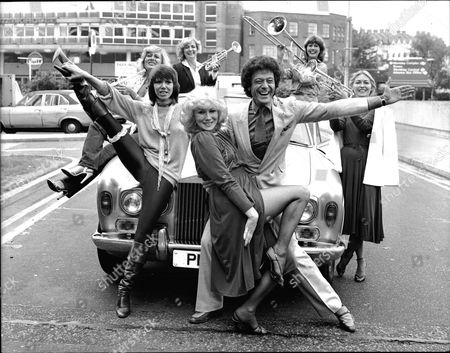 Editorial picture of Dancer Lionel Blair And His Girls Yesterday. Back Row: Jenny Lee-wright Left Ziggy Winters Gillian Ifield Jackie Irving. Front: Judy Carne And Joyce Blair.