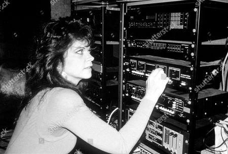 Stock Photo of RENATE BLAUEL, EX-WIFE OF ELTON, AT ELTON JOHNS RECORDING STUDIO