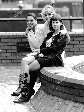 L-r: Debbie Bishop Rachel Fielding And Sadie Frost Who All Play Models In Central Televisions New Comedy Les Girls.