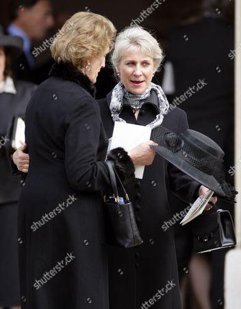 Birgitte van Deurs, Duchess of Gloucester (R) and guest