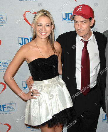 Natalie Kenly and Charlie Sheen