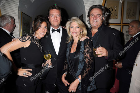 Stock Picture of Maxine Leslau, Mark Steinberg, Mark's wife, Penny and Nick Leslau
