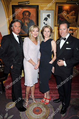 Stock Picture of Richard Caring, Jackie Caring, Viscountess Serena Linley and Viscount David Linley