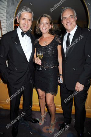 Stock Photo of Sir Stuart Rose, Tania Foster Brown and husband, Nick (chairman of Austin Reed)