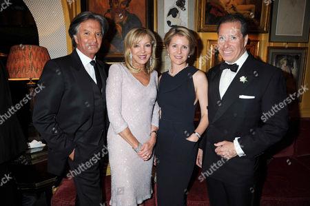 Richard Caring, Jackie Caring, Viscountess Serena Linley and Viscount David Linley