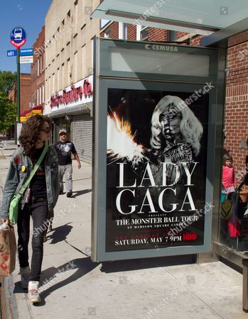 Defaced Lady Gaga poster