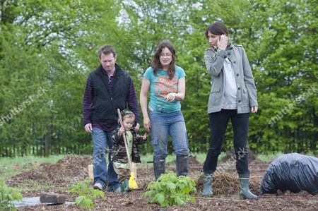 Samantha Cameron Pictured In Her Wellington Boots Visiting The Dobson Lane Allotments Outside Leamington Spa Which Is A Project By The Environment Group Action 21 To Encourage Sustainable Living She Is Pictured Here With Local Conservative Prospective Parliamentary Candidate Chris White And Local Gardeners Alison Smith And Her Son Rufus (2)  29410 See Pa Story Npa Pool Pictures