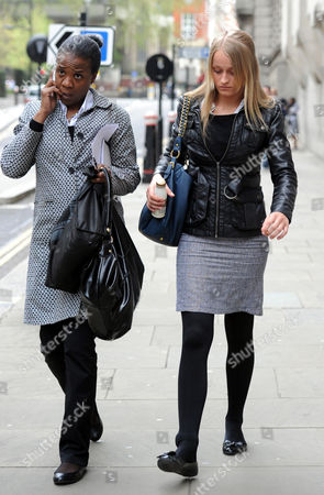 Editorial image of Ruby Thomas 18 (right) One Of The Accused In The Trafalgar Square Homophobic Murder Of Ian Baynham Leaves The Trial At The Old Bailey London.