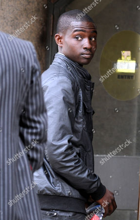 Stock Image of Joel Alexander One Of The Accused In The Trafalgar Square Homophobic Murder Of Ian Baynham Leaves The Trial At The Old Bailey London.