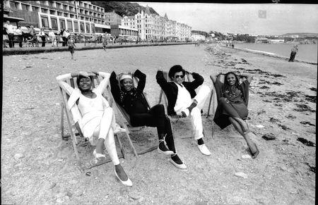 Boney M (l-r) Liz Mitchell Maizie Williams Bobby Farrel And Marcia Barrett .. 1979