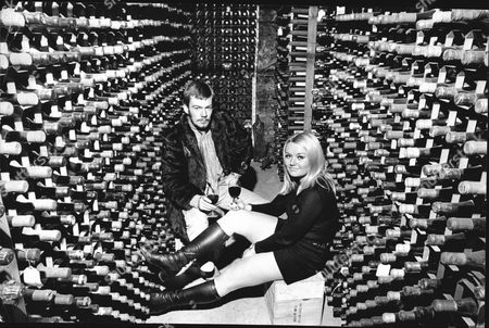 Lord Newport Now 7th Earl Of Bradford And His Girlfriend Ann Fisher In Wine Cellar.