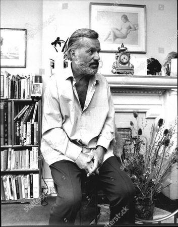 Reginald Bosanquet The Newsreader In His Chelsea Flat. (died May 1984).