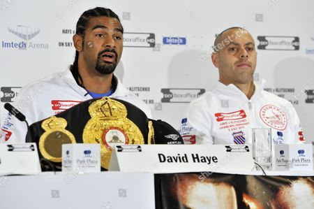 David Haye and Adam Booth
