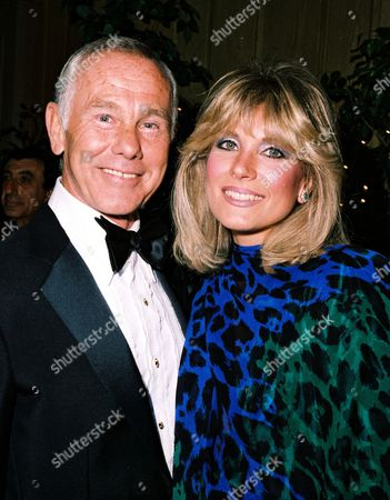 Stock Image of Johnny Carson and Joanna Holland