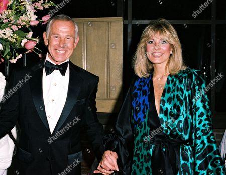 Johnny Carson and Joanna Holland