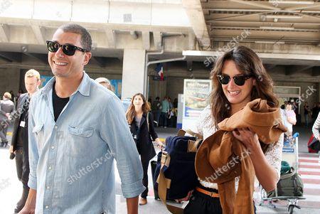 Charlotte Lebon and friend Ali Baddou arrive