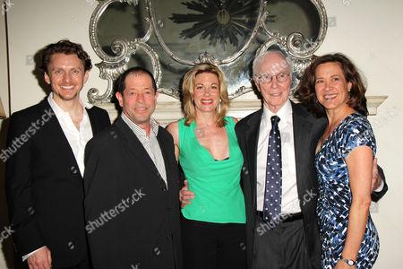 Stock Photo of Jason Danieley, Jonathan Hadary, Marin Mazzie, Roger Berlind, Ka