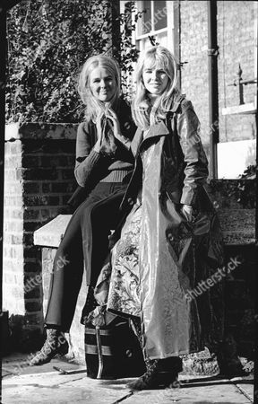 The Jay Twins. 24 Year Old Catherine (wearing Trousers) Who Will Marry Mp Stewart Boyd 26 Pictured With Her Sister Helen (maxi Coat).