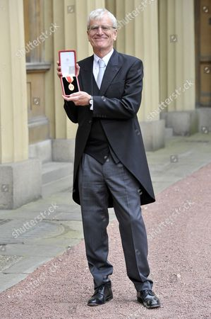 Stock Picture of Sir Richard Lambert, Director General of the Confederation of British Industry, receives a knighthood
