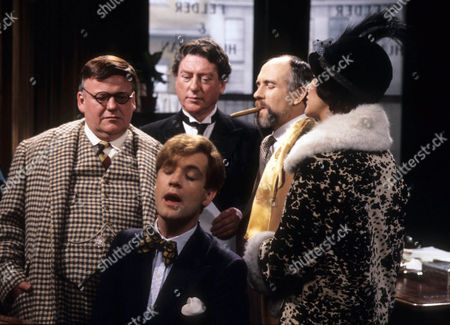 Roy Kinnear as Alfred Nott, Jeremy Nicholas as Inigo Jollifant, Ray Mort as Pitsner, Barry Jackson as Monte Mortimer and Margaret Courtenay as Lady Partlit