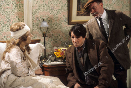 Stock Image of Judy Cornwell as Miss Elizabeth Trant, Alfred Lynch as Joby Jackson and John Stratton as Jess Oakroyd