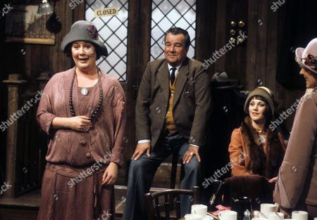 Stock Photo of Jo Kendall as Mrs Joe, John Blythe as Joe Brundit and Jan Francis as Susie Dean