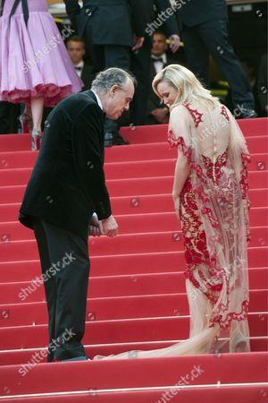 French culture minister Frederic Mitterand and Rachel McAdams