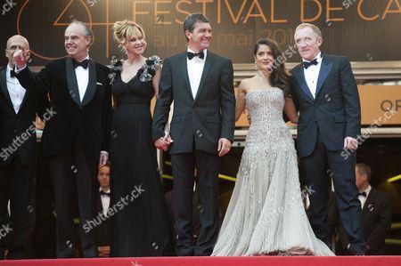 Frederic Mitterand, Melanie Griffith, Antonio Banderas, Salma Hayek with her husband Francois-Henri Pinault