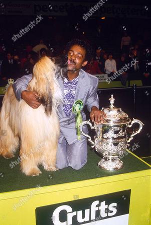 CHRIS AMOO AND DOG GABLE