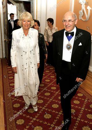 Camilla Duchess of Cornwall and the Lord Mayor of London Alderman Michael Bear