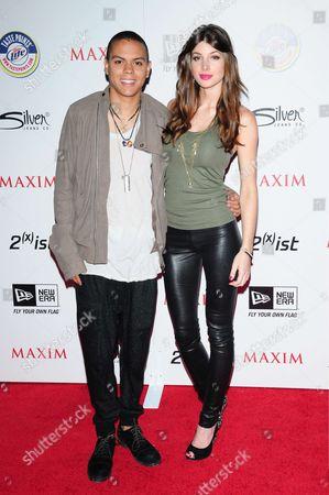 Stock Image of Evan Ross and Cora Skinner