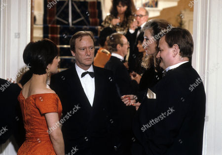 Jan Francis as Sally and Dennis Waterman as Thomas with Joanna McCallum as Jacqueline Day and Paul Brooke as Simon Owen