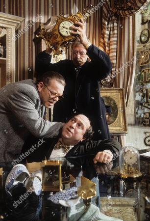 Warren Clarke as Jack Finch, Olivier Pierre as Jean Luc and Leslie Schofield as Harry Finch