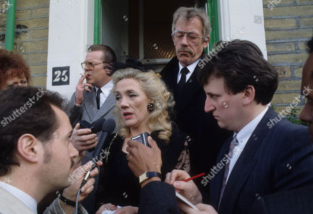 Warren Clarke as Jack Finch, Shirley Stelfox as Judy Finch and Leslie Schofield as Harry Finch with reporters