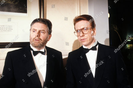 Terence Rigby as Alex Peach and Clive Wood as Simon Thorn