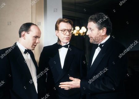 Stock Picture of Albert Welling as Edward Cavendish, Clive Wood as Simon Thorn and Terence Rigby as Alex Peach