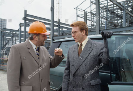Stock Image of Terence Rigby as Alex Peach and Clive Wood as Simon Thorn