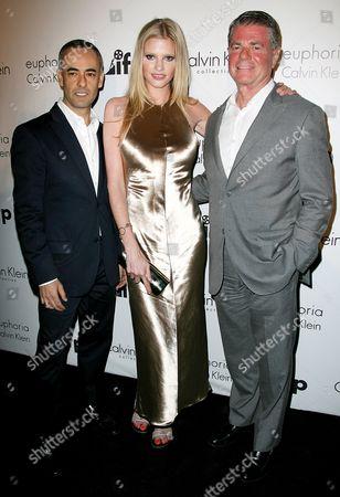 Stock Photo of Francisco Costa, Lara Stone and Tom Murry