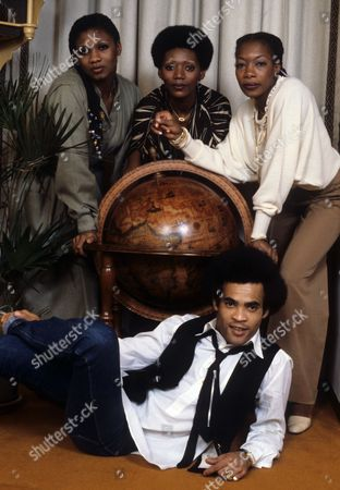 Boney M - Liz Mitchell, Maizie Williams, Marcia Barrett and Bobby Farrell and Montcalm Hotel, London
