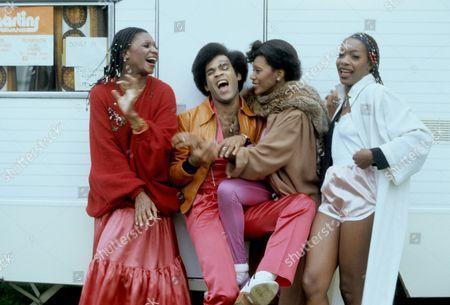Boney M - Marcia Barrett, Bobby Farrell, Liz Mitchell and Maizie Williams, Torquay, Britain