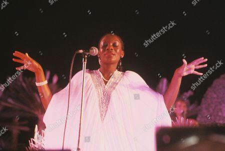 Boney M - Marcia Barrett at the Rainbow Theatre, London
