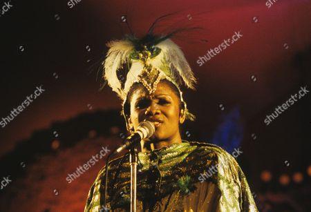 Boney M - Marcia Barrett in concert at the Hammersmith Odeon, London